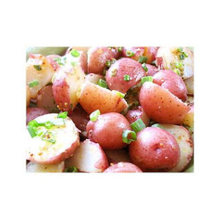 Boiled New Potatoes With Garlic Lemon Dressing