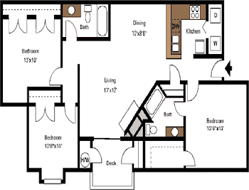 Go to The Blue Ridge Floorplan page.