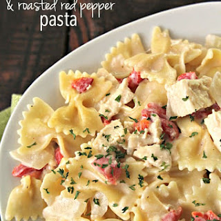 Creamy Chicken and Roasted Red Pepper Pasta Recipe