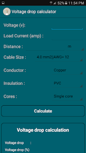 Voltage drop cable size short circuit calcs apps on google play screenshot image greentooth Image collections