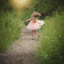 by Jessica Eirich - Babies & Children Child Portraits ( beautiful, dress, twirl, garden, daughter )