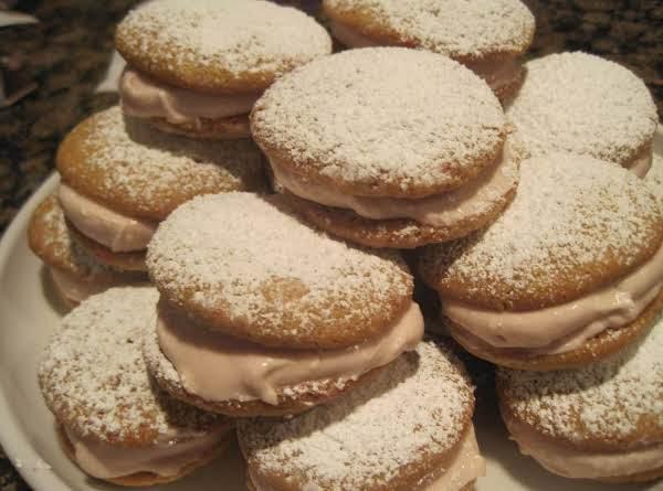 Minty Raspberry Filled Sugar Cookies