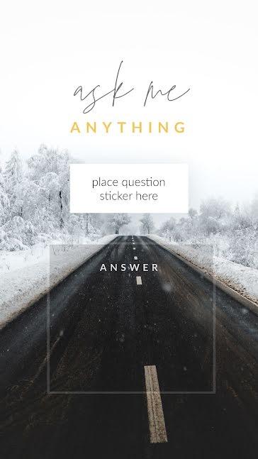 Frozen AMA - Facebook Story Template