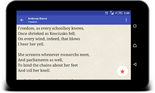 Famous poetry and poets (free)- screenshot thumbnail