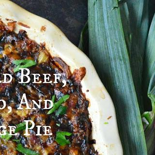 Irish Corned Beef, Potato and Cabbage Pie