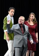 """Photo: WIEN/ Theater in der Josefstadt: """"VOR SONNENUNTERGANG"""" von Gerhard Hauptmann. Premiere 3.9.2015. Alexander Absengerm Siegfried Walther, Marina Senckel. Copyright: Barbara Zeininge"""