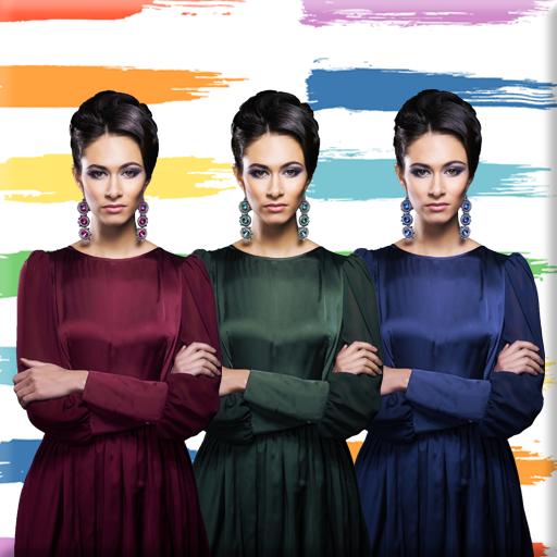 摄影のファブリックドレスの色チェンジャー LOGO-記事Game