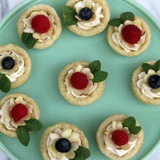 Mini Fruit and Almond Flower Tarts Recipe
