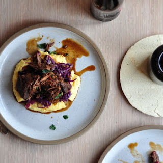 Porter Braised Beef With Cabbage And Polenta