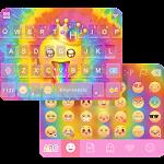 Tie Dye Emoji Keyboard Theme Icon