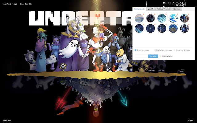 Undertale HD Wallpapers and New Tab