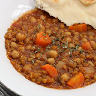 Curry Chickpea Lentil Stew.