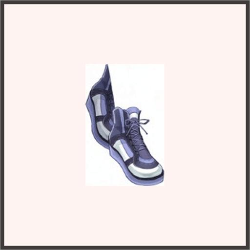 ノーマルゴムシューズ(紫)