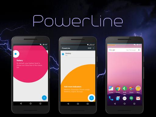 PowerLine: On screen battery, signal, data lines  screenshots 9