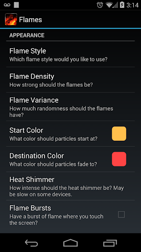 KF Flames Free Live Wallpaper screenshot 5