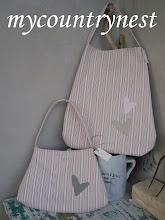 Photo: borse con cotone righine ikea