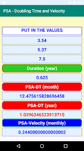 Download PSA- Calculations of Doubling Time and Velocity For PC Windows and Mac apk screenshot 4