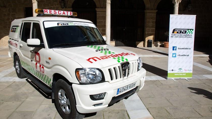 El vehículo de rescate de la federación andaluza