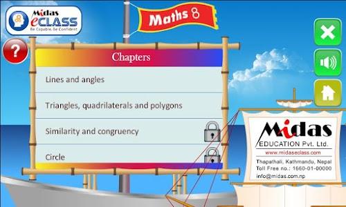 MiDas eCLASS Maths 8 Demo screenshot 1