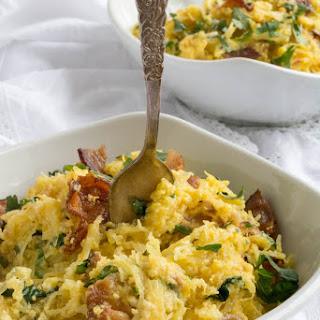 Low Carb Spaghetti Squash Alla Carbonara