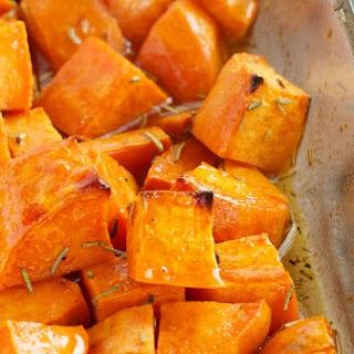 Maple Rosemary Roasted Sweet Potatoes