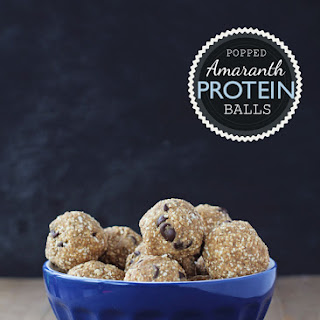 Popped Amaranth Protein Balls