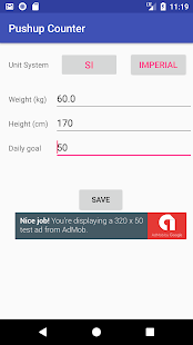 WorkOut PushUp Tracker - náhled