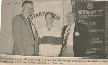 Photo: President John Boyce, Michael Oliva, Frank Pryatel