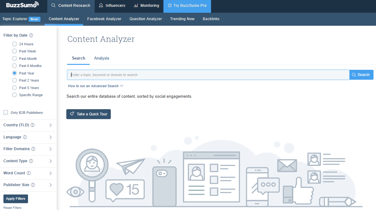 BuzzSumo - analiza content marketingu
