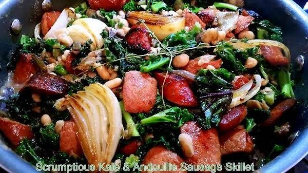 ~ Scrumptious Kale & Andouille Sausage Skillet ~ Recipe