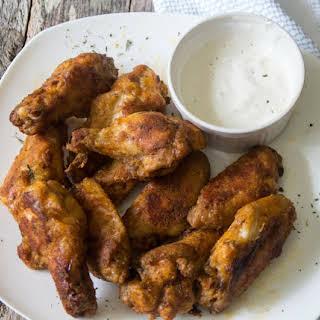 Easy Crispy Baked Buffalo Chicken Wings.