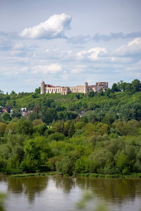 Albrechtówka, widok na zamek w Janowcu