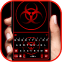Red Biohazard Keyboard Background icon