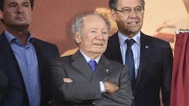 El expresidente del F. C. Barcelona en uno de sus últimos actos.