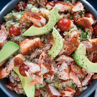 Quinoa-Avocado Salmon Salad.