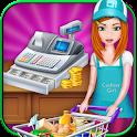 Supermarket Cash Register Girl icon