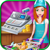 Supermarket Cash Register Girl