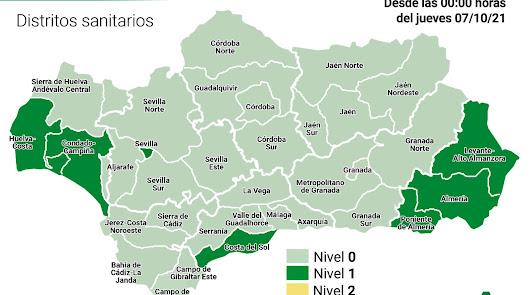 La bajada de casos de covid sitúa ya a Almería al borde del riesgo bajo
