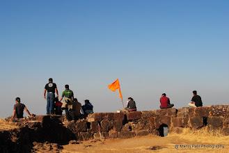 Photo: Unnecessay Hikers on Bini Cha Buruj, Rajgad
