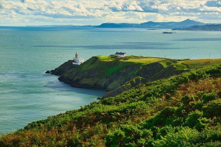 Irlanda, Dublín, Howth, Paisaje, Marina, Acantilados