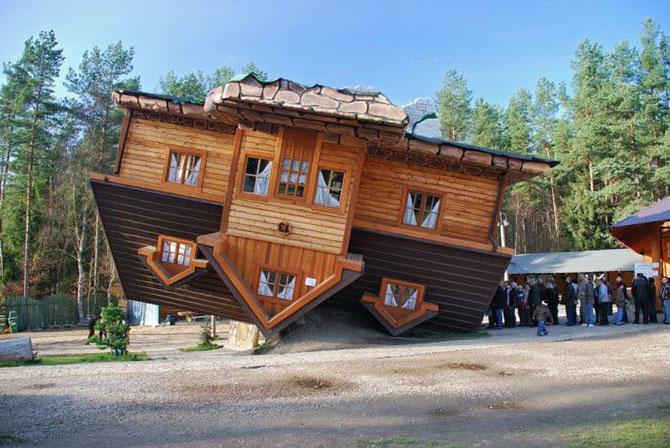 Al revés casa (Szymbark, Polonia)