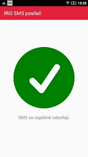 IRIS SMS posílač - náhled