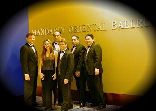 Photo: Mandarin Oriental Hotel with the band Jimmy Stowe, myself, Larry Agovino, Jaime Hartman, Rusty Taylor and Tom Yamazaki