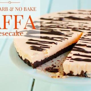 Low Carb No Bake Jaffa Cheesecake.