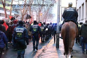 Photo: So sah die Seitenbegleitung durch die Polizei aus.