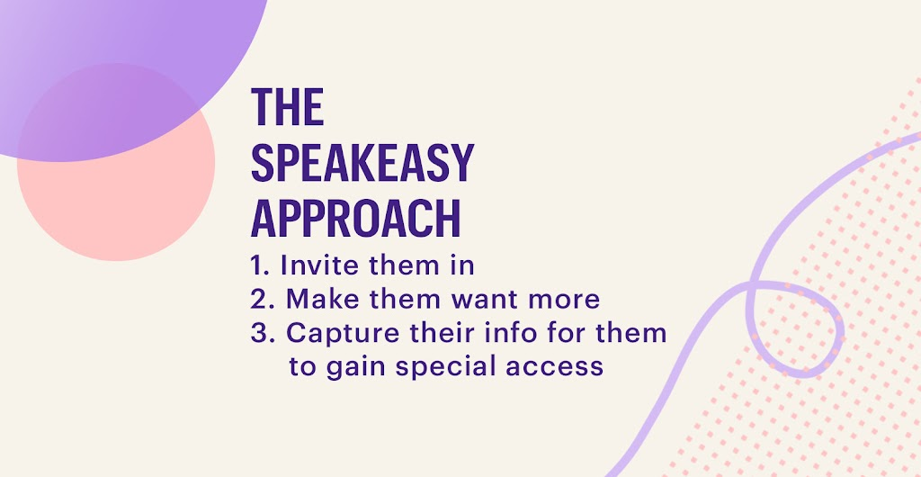 the speakeasy approach steps
