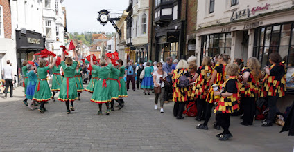 Photo: BACK TO THE HIGH STREET, WITH OYSTER GIRLS AND HOBOS MORRIS .