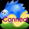 Mountain trip logger connect icon