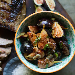 Grilled Flank Steak with Balsamic-Mint Fig Salsa