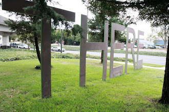 "Photo: ""There"" sculpture at the Oakland/Berkeley border. On p. 122 of Oakland in Popular Memory. Photo by Joe Sciarrillo"